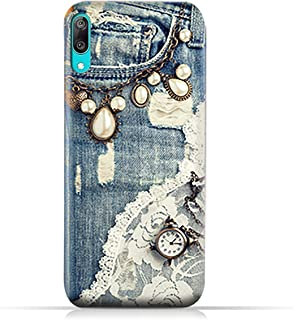 AMC Design Huawei Y7 Pro (2019) TPU Silicone Case with Modern Jeans Pattern