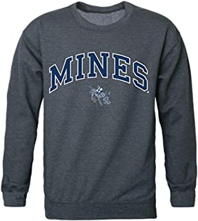 Colorado School of Mines Campus Crewneck Pullover Sweatshirt Sweater Heather Charcoal