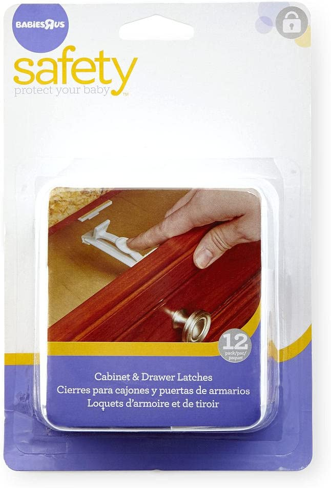 Cabinet and Drawer Latches - 12-Pack
