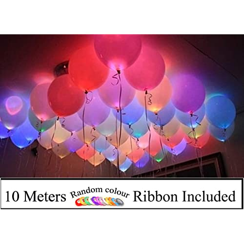 AMFIN® (Pack of 25) LED Light Balloons for Birthday Decoration, Party Decoration, Wedding, Anniversary, Christmas, New Year Decoration