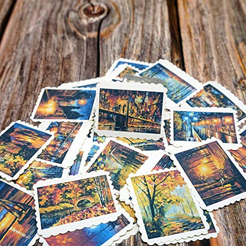 KATTERS Travel Landscape Decorative Stickers Diy Album Diary Scrapbooking Stationery Stickers Student Gift Stickers42Pcs/Bag