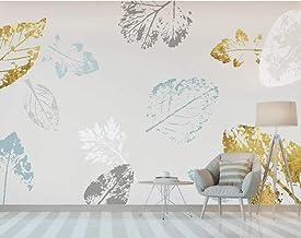 Abstract golden leaves wallpaper mural dormitorio fondo pared 430×300cm