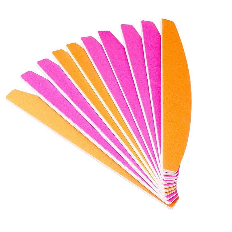 繊細充電マネージャージャッキーハーフムーン型蛍光砂バー(変色)ポータブルネイルアートサンディングファイルバッファーブロックマニキュアのヒントUVジェルポリッシャーツール