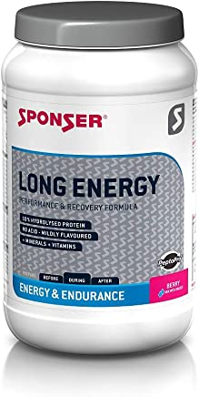 Sponser LONG ENERGY performance and recovery formula| Berry| 1200 g jar