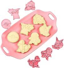 Pidepcos Lot de 6 moules à biscuits Pokémon Anime Cartoon Accessoires de pâtisserie pour enfants Cadeaux de pâtisserie DIY...