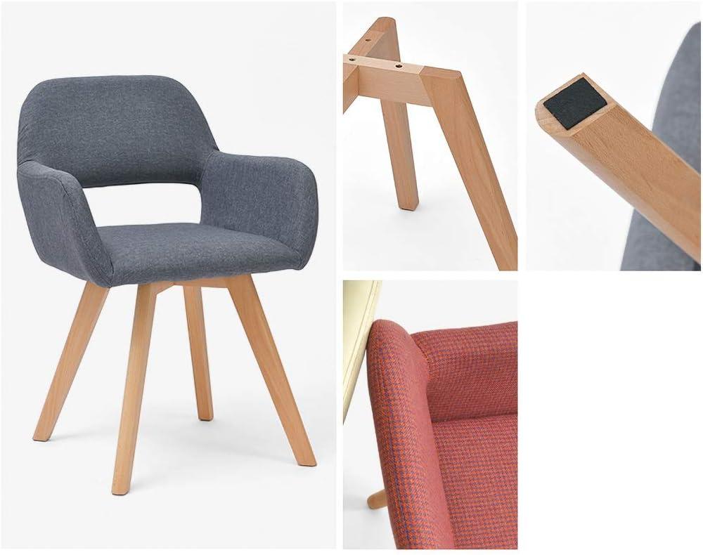 JHZY Fauteuil de loisir Table et chaise rétro en tissu en bois massif Chaise de salle à manger chaise de bureau d'hôtel restaurant (couleur : C) D