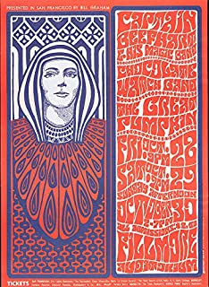 Historic Poster - San Francisco by Bill Graham, Captain Beefheart & his Magic Band Chocolate Watch Band, The Great Pumpkin Fillmore Auditorium - Wes Wilson '66 - Fine Art Reprint 18in x 24in