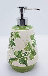 Dosatore Linea Edere Ceramica Handmade Le Ceramiche del Castello Made in Italy Dimensioni 11 x 17,5 centimetri