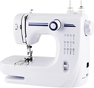 Gluckluz Sewing Machine Portable Electric Household Mending Machine with 12 Built-in Stitches for Fabric Children's Cloth ...