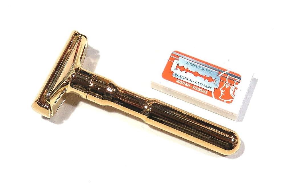 逸話わかりやすい欠伸メルクールMERKUR(独)髭剃り(ひげそり)両刃ホルダー