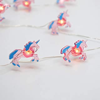LED Wire Lights, LED String Lights, Battery Operated String Lights with 36 Unicorn Shaped Warm LEDs for Party, Bedroom, Kitchen, Patio, Deck and more, 12 Feet Long