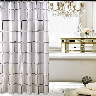 Rideau de douche rideaux pliants rideau de s/éparation sanitaire taille : 180 * 200cm PVC /épais rideau de douche moisissure multi-dimensions pas de perforation