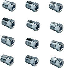 DEWHEL Steel Tube Nuts 3/8-24 Inverted Flare Zinc Fitting 3/16 Steel Brake Line Tubing Pack of 12