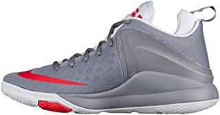 Mens Lebron Zoom Witness Basketball Shoes (13, Cool Grey/University Red)
