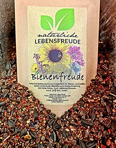 Natürliche Lebensfreude - 500g Bienenfreude - Bio Wild Blumensamen – geprüfte Qualität – Bienenwiese - Bienensamenmischung - Bienensamen - für Bienen - Blumenwiese