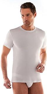 d68c2c14de6b 3 t-shirt corpo uomo bianco caldo cotone LIABEL mezza manica girocollo  02828/e23