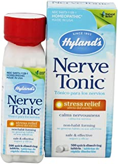 Hyland's Stress and Anxiety Relief Supplement, Nerve Tonic, Natural Relief of Nerve Pain, Restlessness, Nervousness and Ir...