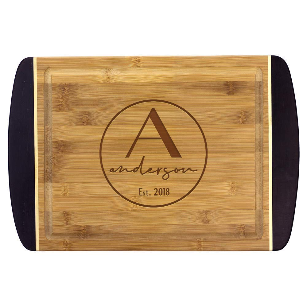 Personalized 2-Tone Bamboo Popular Popular standard products Cutting Board Wedding W Engraved Gift