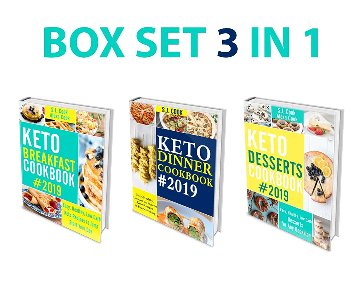 Keto Diet Cookbook: 3 in 1 Box Set - Keto Breakfast Cookbook, Keto Dinner Cookbook, Keto Desserts Cookbook ( Keto Baking Cookbook, Easy Recipes) (English Edition)