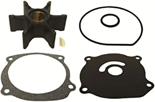 GLM Johnson Evinrude 85 88 90 100 105 110 112 115 hp V4 200 225 235 250 275 hp V6 Water Pump Impeller Kit 1979 & up with Plastic Wedge Key Replaces 18-3211 Read Item Description for Applications