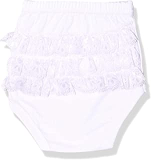 PaPillon Lace Ruffled Basic Cotton Panty for Girls, White, 18 Months