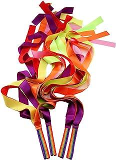 comprar comparacion MUROAD 10 Piezas 1M Cintas Arco Iris, Cintas de Gimnasias Rítmicas, Cintas de Malabares, Juguetes Cintas de Baile para niños