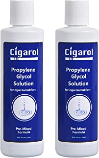 Volenx Cigar Humidor Solution 16 oz Cigars Humidifier Propylene Glycol Humidor Humidifier Humidification (2 Pack)