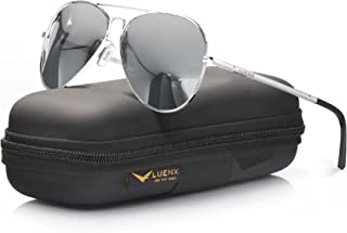 Aviator Sunglasses for Men Women Polarized - UV 400 Protection with case 60MM