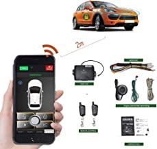Remote Start For Cars Engine Keyless Entry Automatic Locking/unlock Central PKE Start Stop kit Car Alarm System With Two 4-Button Controls Smartphone APP Remote Car Starters