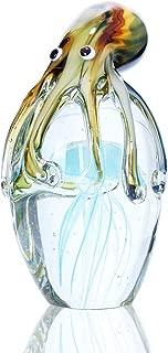 Qf Handmade Blown Glass, Octupus and Jellyfish, Christamas Gift, Home Decor,