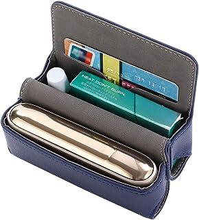 DrafTor E Zigarette Tasche, PU Leder Zigarettenetui FR 3.0 mit Magnetabdeckung (nur Tasche)(Blau)