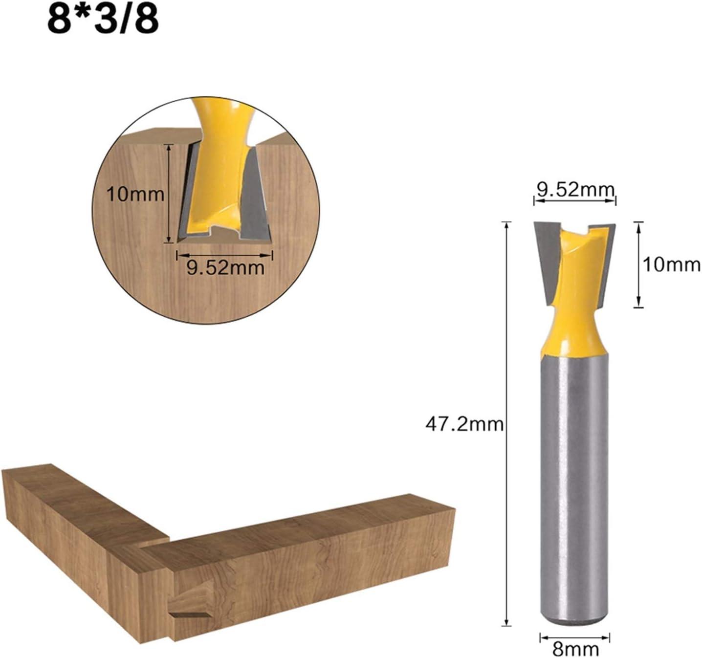 14 Grad Holzbearbeitung Graviermaschine Bit-Fr/äser for Holz f/ür Home /& DIY Pangocho Jinchao-Router-Bits 1pcs Cutting Edge Length : 5PCS 8mm Schaft Schwalbenschwanz Fr/äser Set