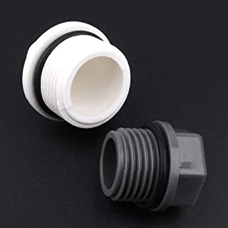"""MOLIBAIHUO 6pcs/lot 1/2"""" 3/4"""" 1 Inch Male Thread PVC Pipe Plug Micro Irrigation Fittings Water Pipe Connectors Tube End Ca..."""