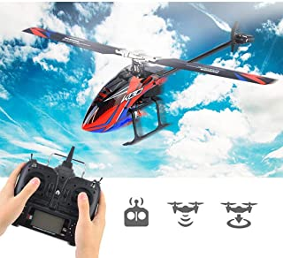 Pangding RC Flying Helicopter, 6CH Brushless Flybarless Electric Remote Drone Airplane Vehicle Aircraft Toy for Kids Children