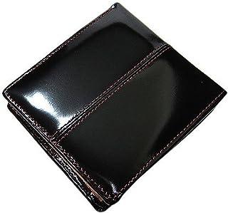 Maturi マトゥーリ SIRP イタリアンレザーセンターステッチ 二つ折財布 BK×RD MR-019