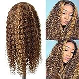 Highlight Human Hair Wigs 22Inch Deep Curly 13x4x1 T...