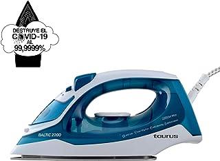 Taurus Baltic 2200 – Plancha 2200W, Suela Silver, Gran Deslizamiento, Golpe de Vapor de 110 g/min, Cable abatible, Sistema antical, ELECTRÓNICOS, Azul/Blanco