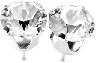 3d52b7f73 925 Sterling Silver stud earrings for women made with sparkling Diamond  White crystals from Swarovski®