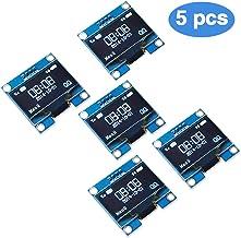 PEMENOL 5PCS OLED Display Module 0.96 InchI2C IIC Serial 128 x 64 OLED LCD Display Module with SSD1306 Driver for Arduino...