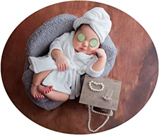 Newborn Monthly Baby Photo Props Bathrobes with Towel Sets for Boys Girls Photography