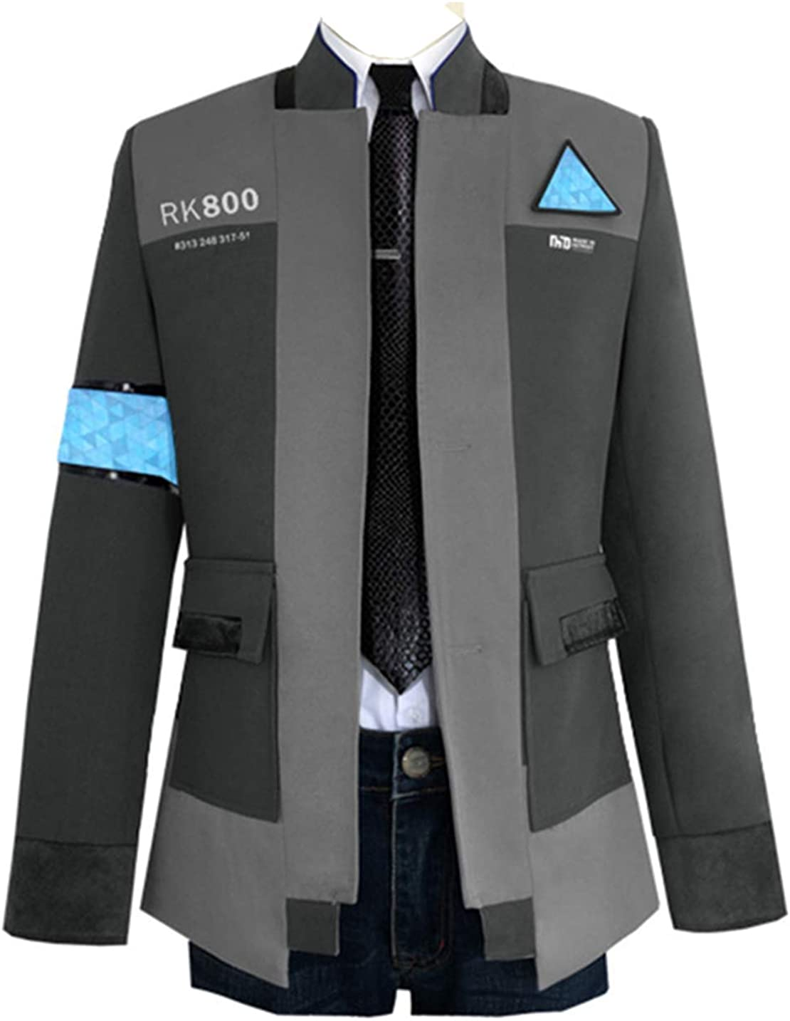 COSFLY Game Become Human Connor Jacket Cosplay Costume Men Coat