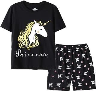 Hupohoi Summer Unique Spaghetti Pajama Sets Cute Koala Sleepwear 2PCS PJS for Big Girls Age 7-16 Years