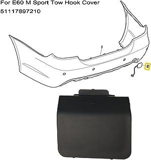 Qii lu Tapa de la cubierta del gancho de remolque del parachoques delantero para E60 E61 5 Series 520d 520i 523li 525li 530li 2008-2010
