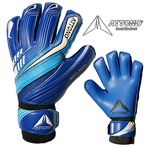 ATTONO Torwarthandschuhe Attack Breaker II Fingersave Torwart Handschuhe - Größe 6