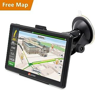 Junsun 7 inch Capacitative Touchscreen Car Truck GPS System Navigator with 8GB/Fm/Mp3, MP4/Lifetime Maps