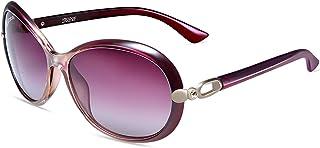 نظارات شمسية نسائية من فيغوس بتصميم مستقطبة 100% حماية من الأشعة فوق البنفسجية عصرية كبيرة الحجم من أجل النساء