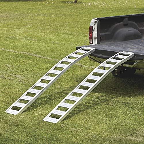 Ultra-Tow Non-Folding Arched Aluminum Loading Ramp Set - 1500-Lb....