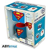 ABYstyle - DC Comics - Coffret Cadeau - Verre 29cl + Coaster + Mini Mug Superman