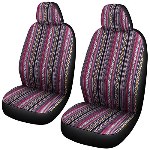 Baja Seat Covers for Car Front Seats Only Universal Size Fit Most Cars SUV (FR-F)