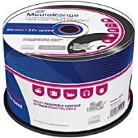 MediaRange MR226 - CD-R Imprimible con aspecto de disco de Vinilo, Pack de 50 unidades